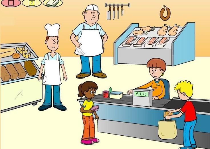 Bij de slager praatplaat
