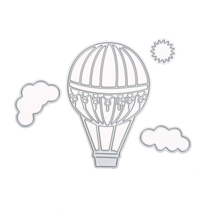Fire Balloon Pattern Metal Cutting Dies Stencils for Scrapbooking Craft Dies //Price: $8.99 & FREE Shipping //     #crafts #sewing