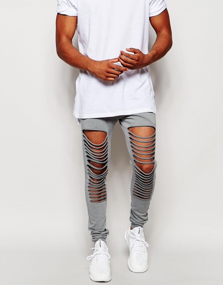 ASOS Super Skinny Joggers With Extreme Rips
