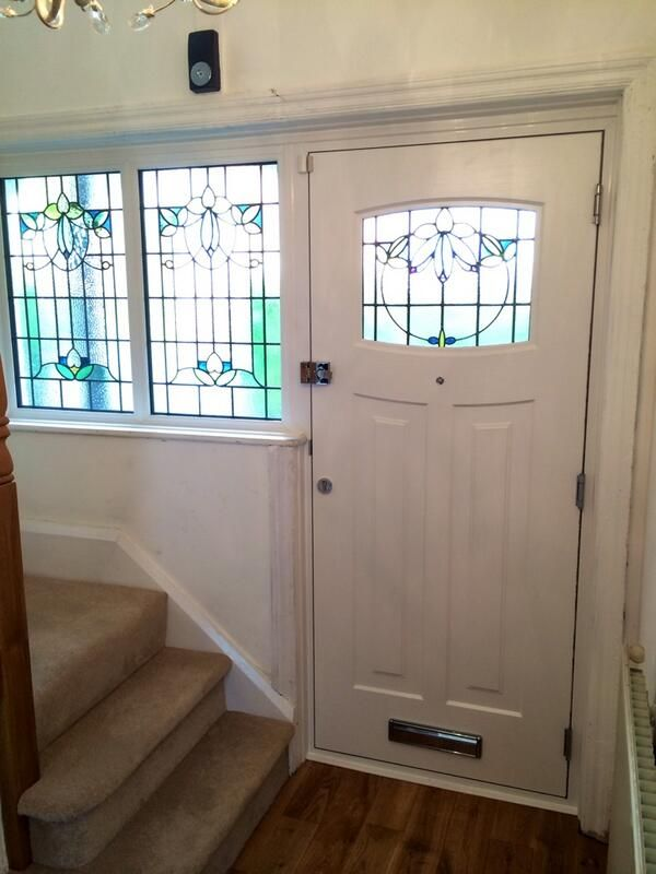 Fantastic inside photo of 1930s style compsite door