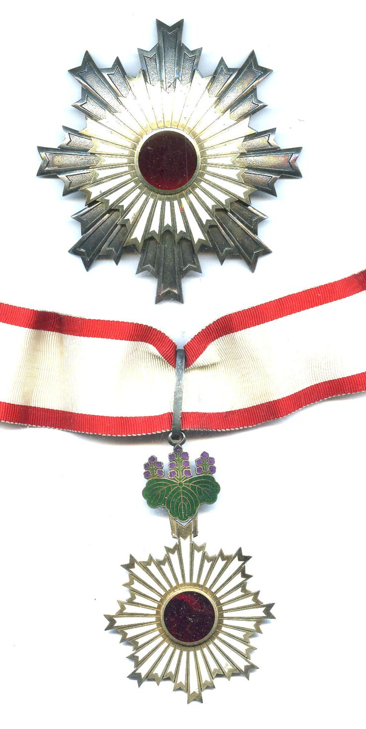 Order of the Rising Sun Grand Officer neck badge and breast star