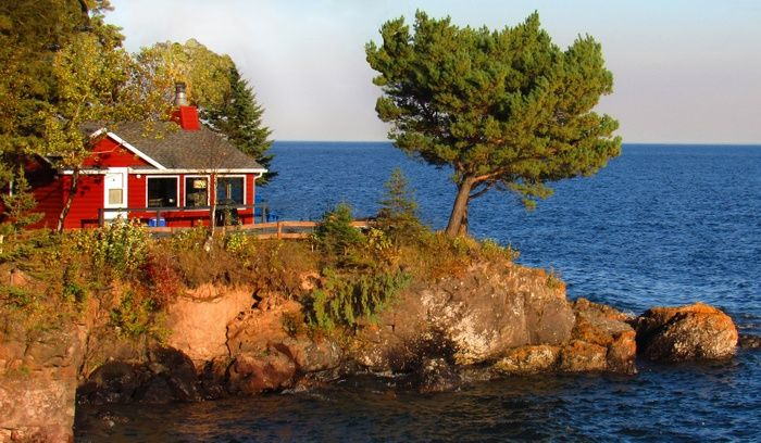 Red Cabin By Sharon Harris On Capture Minnesota Breezy Point On Lake Superior Getaway Cabins Cabin Architecture Design