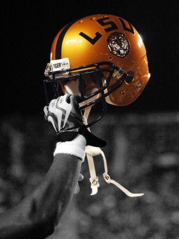 Louisiana State University - Gold LSU Helmet Photographic Print