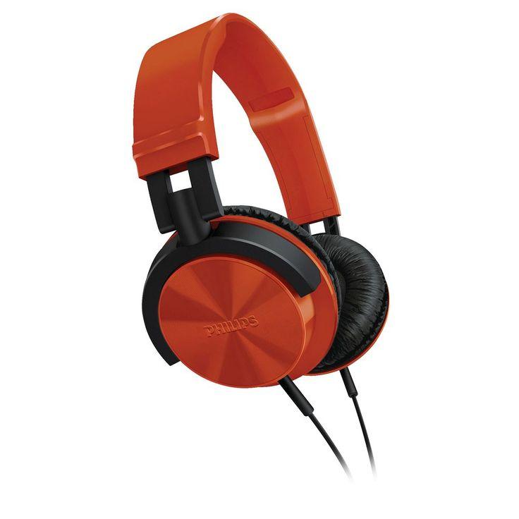 Philips DJ Style Headphones - Red