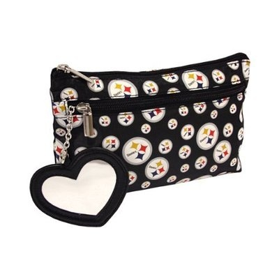 New NFL Pittsburgh Steelers Licensed Daisy Make Up Bag Pouch Purse