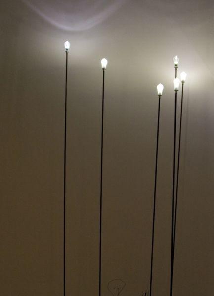 Viabizzuno | Lucciola | Floor standing outdoor LED light fitting in carbon fibre by Mario Nanni