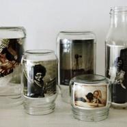 photo frames! Need some retro photos to pull this off!: Idea, Photo Display, Diy'S, Glasses Jars, Picture Frames, Display Photo, Pictures Frames, Crafts, Masons Jars