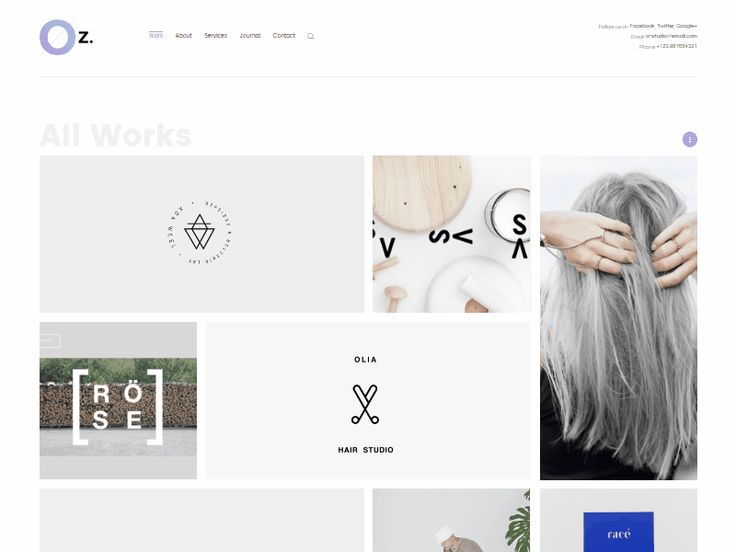 Oz — Minimalist portfolio wordpress theme by Nguyen Long for Wiloke WordPress Themes
