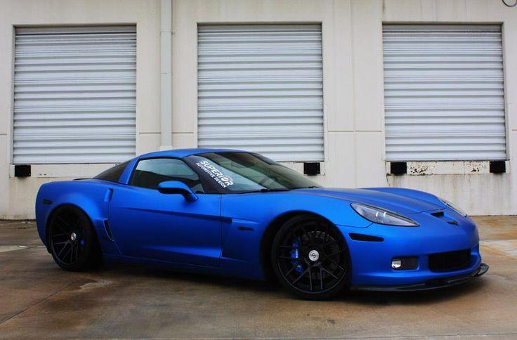 Matte Blue 2007 Corvette Z06