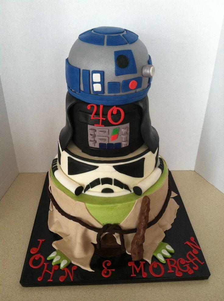 ... Stars Wars, Character Cake, Bottom Tiered, Birthday Cakes, Wars Cake