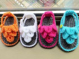 Crochet Dreamz: Crocodile St Baby Sandals or Booties, Crochet Pattern, 0-12 mont
