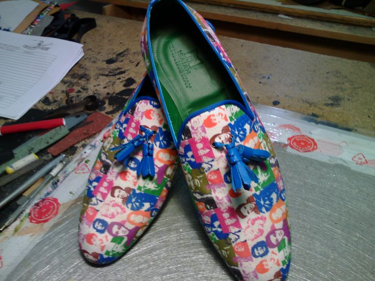 bespoke shoes whith shirting fabric by JOVANNY CAPRI