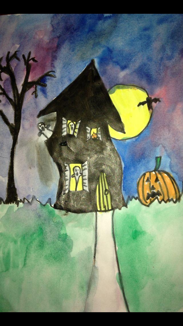 10 best Halloween art for children images on Pinterest Halloween - best decorated houses for halloween