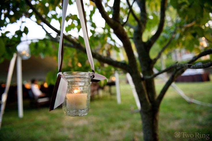 mason jar lighting for wedding