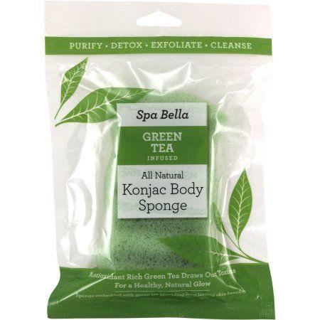 Used Swissco Green Tea Infused Konjac Body Sponge