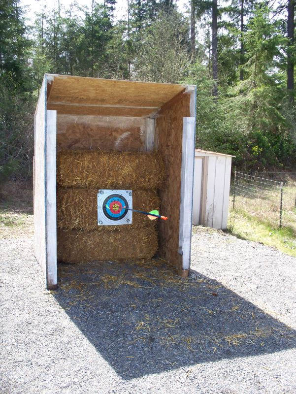 Deff having a target/ gun range on the backyard, along with a place to shoot!