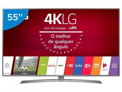 """Smart TV LED 55"""" LG 4K/Ultra HD 55UJ6585 webOS - Conversor Digital 2 USB 4 HDMI com as melhores condições você encontra no Magazine Wagnerlipe. Confira!"""