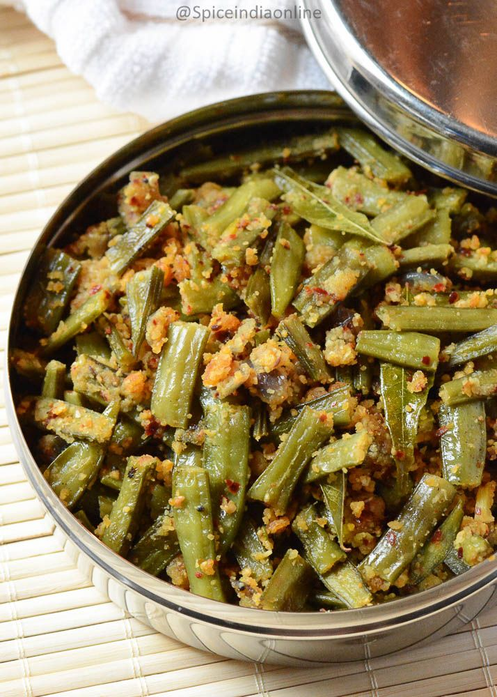 Cluster Beans Poriyal – Kothavarangai Poriyal – South Indian Cluster Beans Curry – Spiceindiaonline