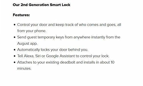 August Smart Lock 2nd Generation – Silver, Works with Amazon Alexa