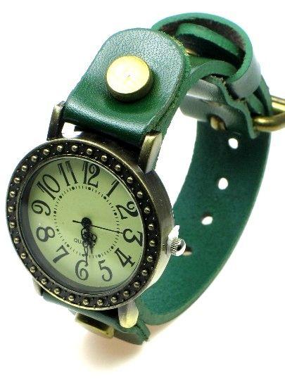 Groene armband met horloge #horloge voor 8,95 www.deoorbel.nl