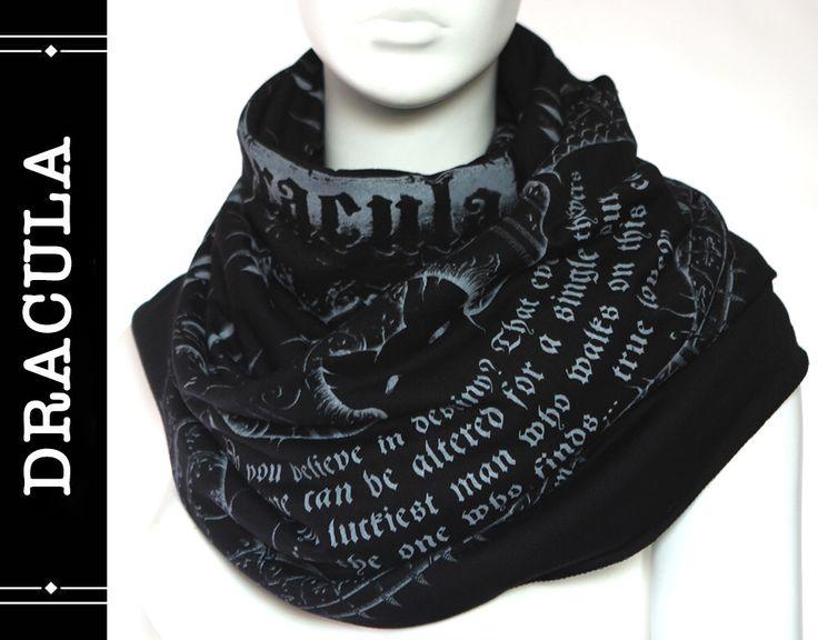 Dracula Book Scarf by LiteratiClub on Etsy https://www.etsy.com/listing/251427857/dracula-book-scarf
