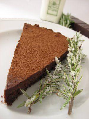 Dark Chocolate Rosemary Tart