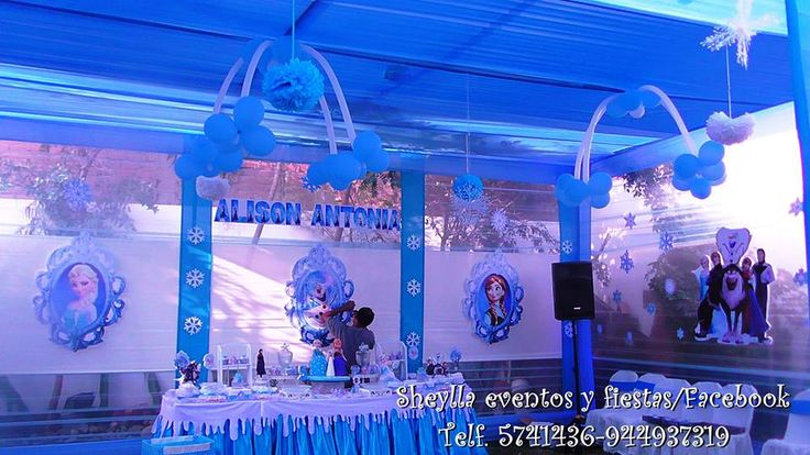 Decoraci n de frozen sheylla eventos y fiestas facebook for Decoracion hogar lima peru