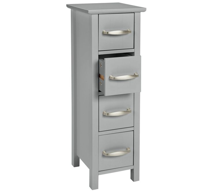 Buy Collection New Tongue and Groove 4 Drawer Unit - Grey at Argos.co.uk, visit Argos.co.uk to shop online for Bathroom shelves and storage units, Bathroom furniture, Home and garden