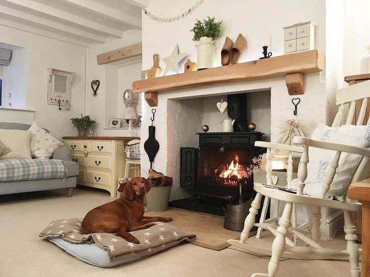"1,017 Likes, 28 Comments - Pauline - Hugs & Hearts (@hugsandhearts_) on Instagram: ""⭐️Poppie Mae wishes you all a cosy Friday Evening ⭐️#cottage #countryhome #cosy #logburner"""