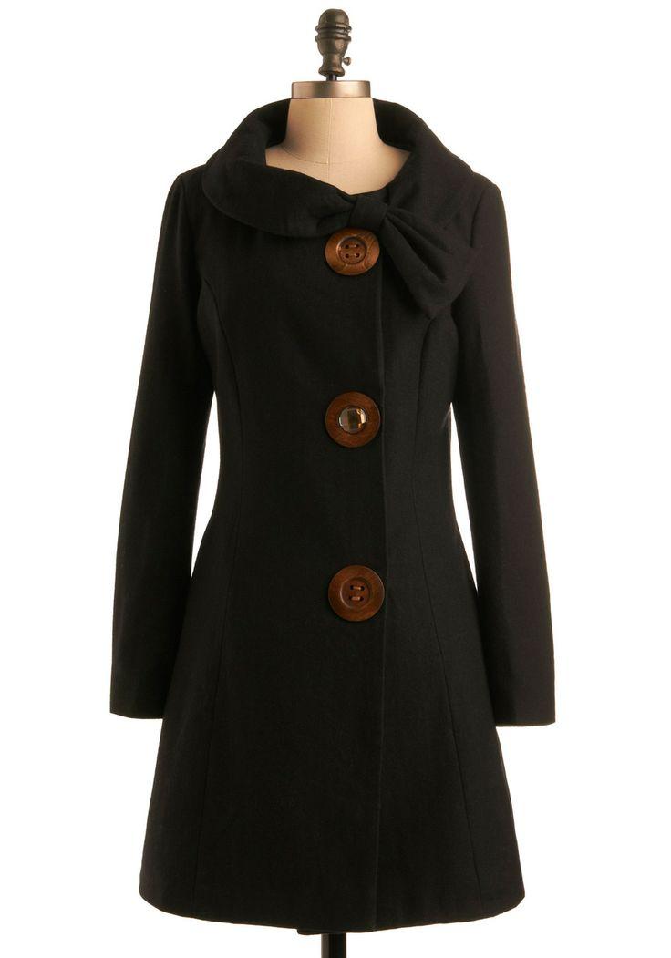 Love the buttons: Amber Roads, Roads Coats, Black Coats, Winter Jackets, Big Buttons, Fall Coats, Fall Jackets, Winter Coats, Vintage Coat