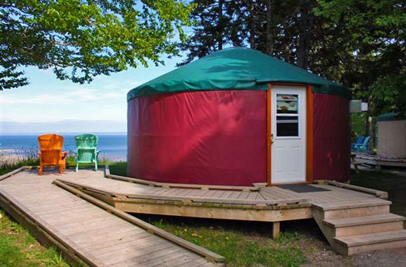 Unforgettable Places to Sleep in National Parks (photo is of yurt at Fundy National Park, New Brunswick)