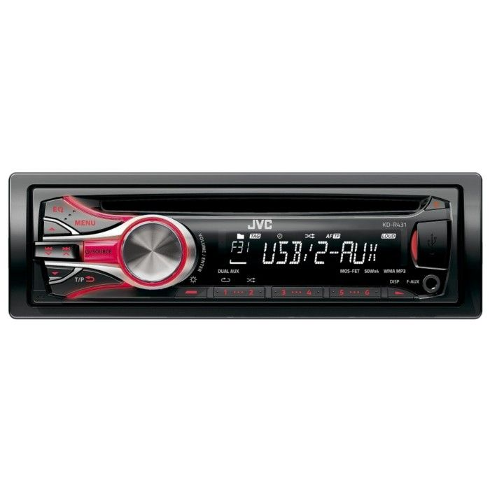 Older JVC Car CD Player | JVC USB/CD MP3/WMA Player with Dual Aux and Bluetooth - Car Audio ...