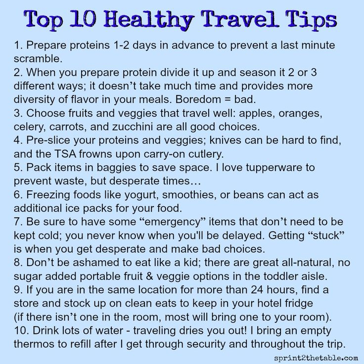 Top 10 Healthy Travel Tips