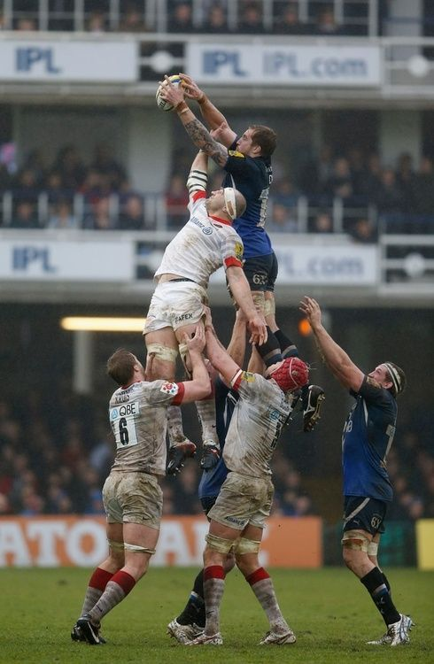 A tower in modern Rugby Union. Instead of banning lifting, it was made legal, hence the elegant human towers at line outs.