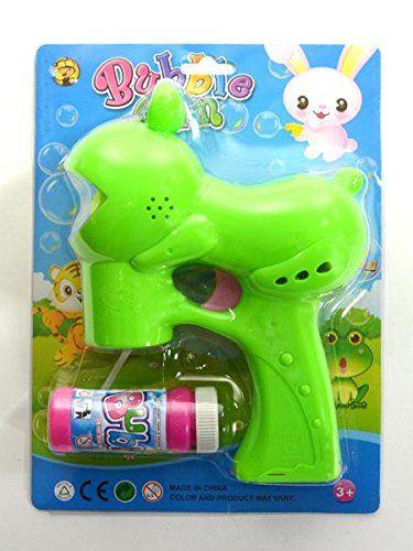 Seifenblasenpistole Frosch mit Licht und Musik 20x15x6,7cm Blister