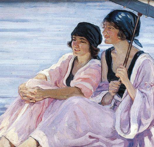 Hilda Rix Nicholas, The Bathers, c.1920