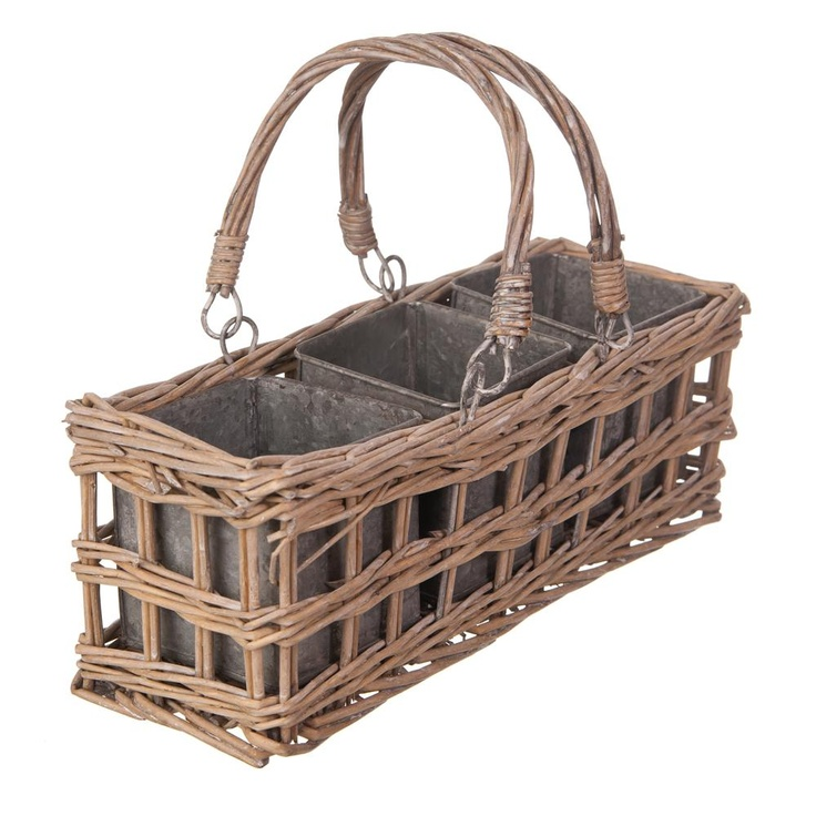Triple Square Tin Pot Basket