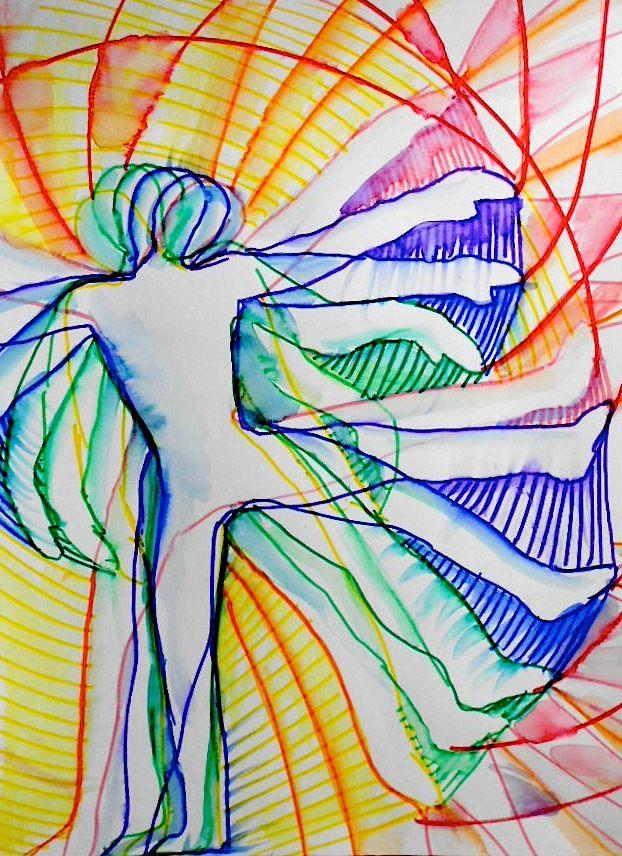 Line Movement Art : Avant garde futurism movement high school middle