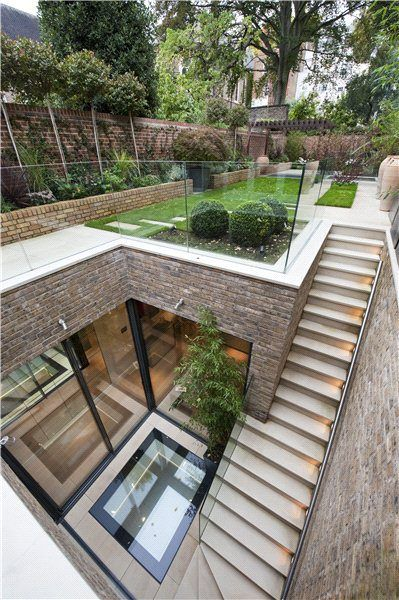 Five bedroom terraced new house in South End, London W8 - off High Street Kensington - listed on Zoopla for £11million #homearchitecture