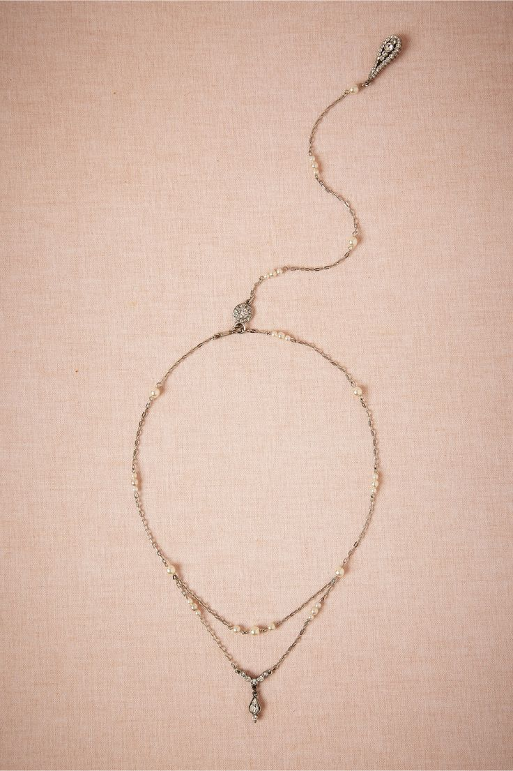 Pearly Back Drape Necklace from BHLDN Something like this would be perfect with my dress
