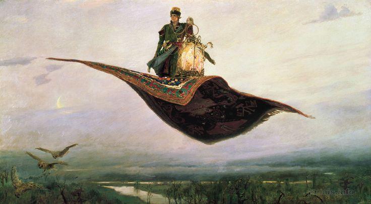 Виктор Васнецов.  Ковер-самолет Victor Vasnetsov.  The Magic Carpet (Flying Сarpet).