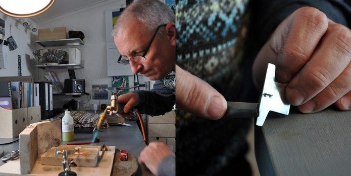 Mike Finnie, Meet your maker for Craft Scotland, I do love seeing jewellers at work in their own little workshoppy world - and his looks very tidy!