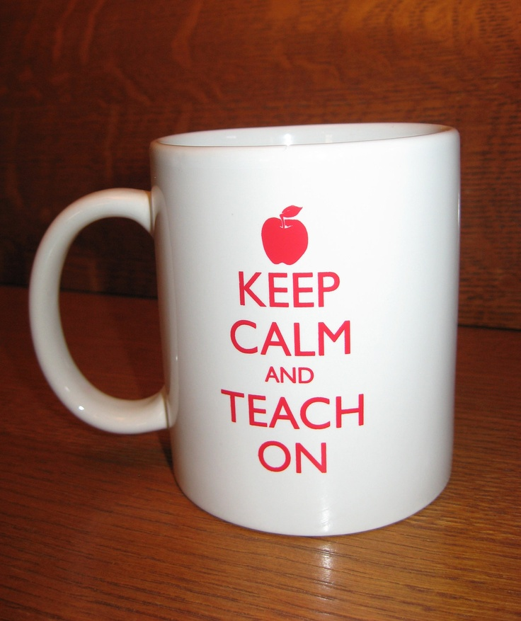 Teacher Mug - Keep Calm and Teach On - Keep Calm and Carry On - Cup / Mug / Teacher Gift. $13.00, via Etsy. franchise on