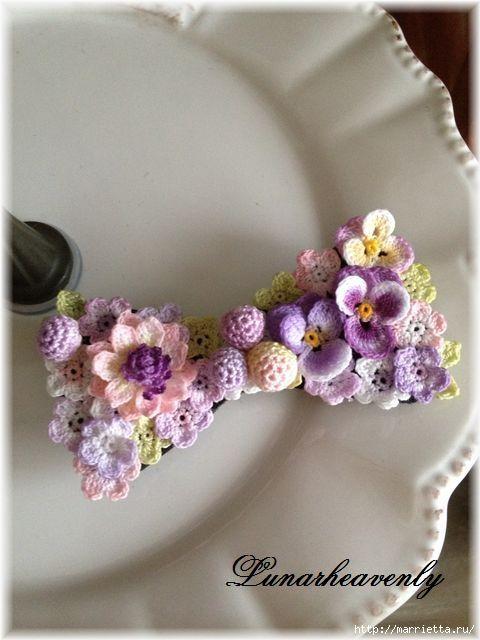 Украшение и декор предметов цветочками крючком (20) (480x640, 134Kb)