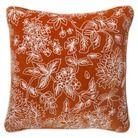 Threshold™ Floral Decorative Pillow - Orange