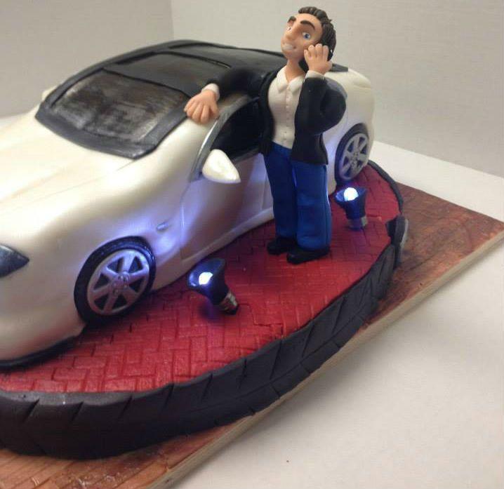 Tesla Car Cake Beautiful Cakes Pinterest Cars Car