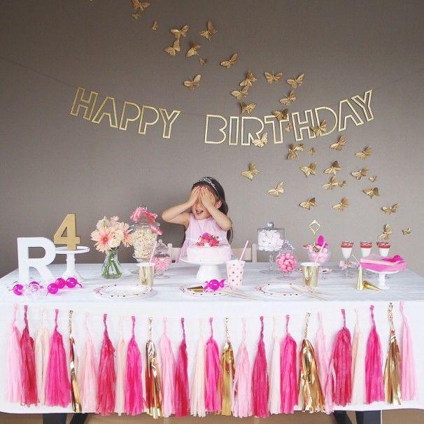 BUTTERFLIES IN PINK -R's BIRTHDAY- ARCH DAYS