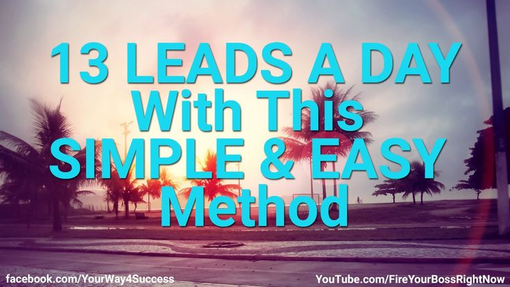 13 Leads A Day With A Simple & Easy Text Marketing Method -- http://www.YourWay4Success.com -- 13 Leads A Day With A Simple & Easy Text Marketing Method  GOT A SMART PHONE? Let's make you some money. Read everything here: http://Text2Cash.YourWay4Success.