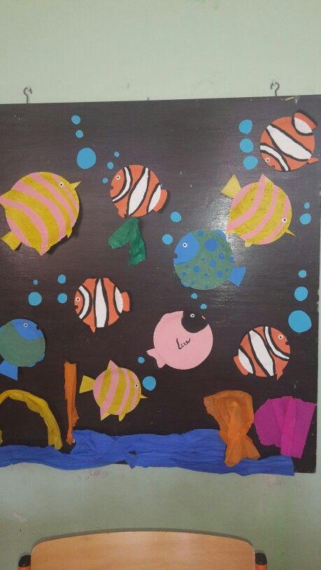 Naše akvárium  (rybičky z tácku)