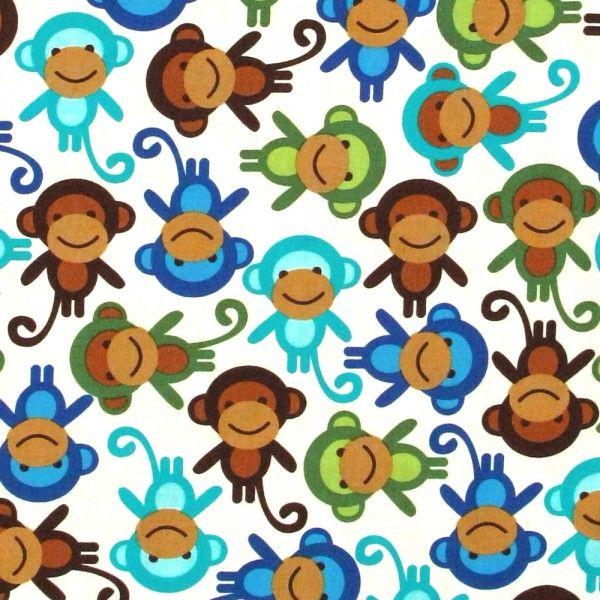aapjes, monkey royal, Robert Kaufman, 100% katoen